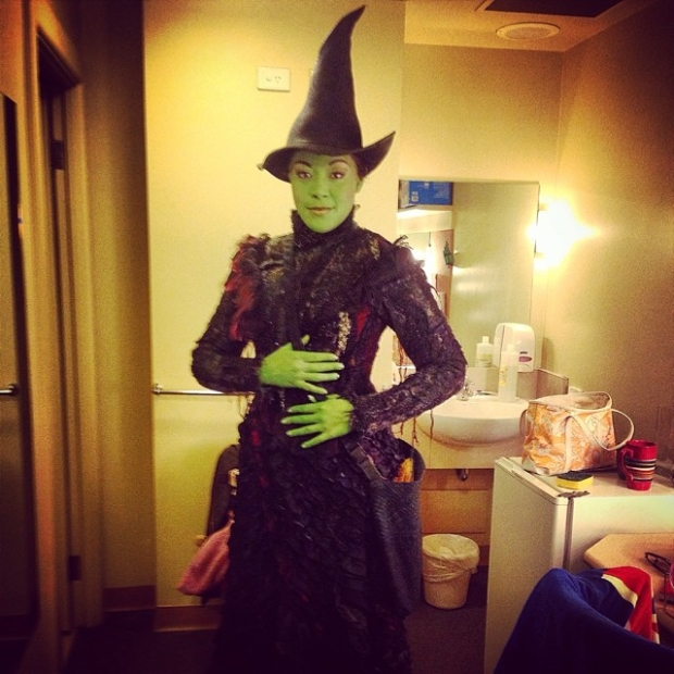 Lilli Cooper in her Elphaba costume in the Melbourne, Australia production of Wicked.