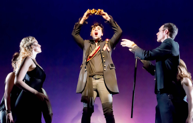 Margaret Loesser Robinson, Joseph Leo Bwarie, and Matthew Patrick Quinn star in Andrew Sabiston and Timothy Williams' Napoleon, directed by Richard Ouzounian, at The Pershing Square Signature Center for NYMF.