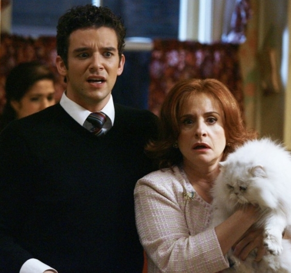 Michael Urie as Marc St. James and Patti LuPone as his mother, Jean, on the ABC television series Ugly Betty.