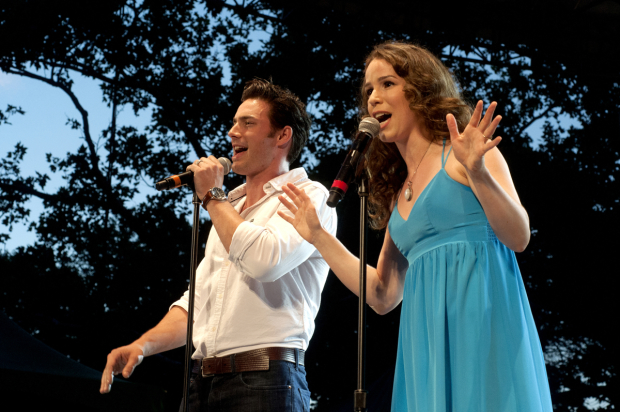 Beautiful's Scott J. Campbell and Chilina Kennedy take to the SummerStage.