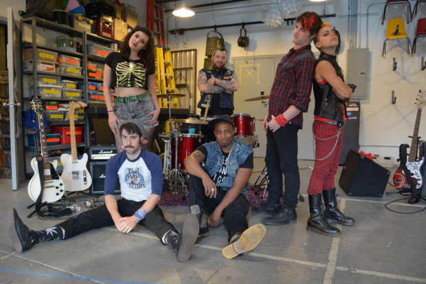 The cast of American Idiot begins performances tonight at The Den Theatre.