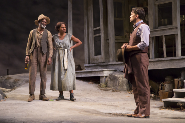 Glynn Turman, Audra McDonald, and Will Swenson star in Eugene O'Neill's A Moon for the Misbegotten, directed by Gordon Edelstein, at the Williamstown Theatre Festival.