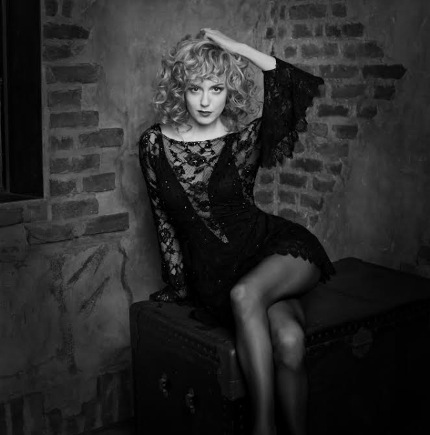 Charlotte Kate Fox as Roxie Hart in a promotional image for her run on Broadway in Chicago.