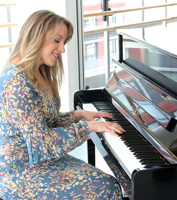 Abby Mueller channels Carole King in a photo shoot for Beautiful.