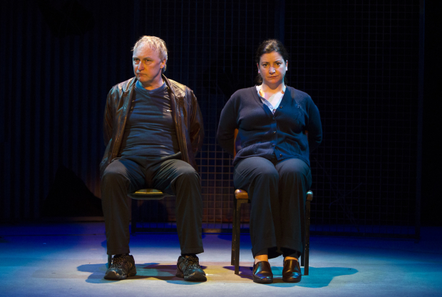 Donal O'Kelly and Sorcha Fox star in Little Thing, Big Thing, directed by Jim Culleton, at 59E59 Theaters.