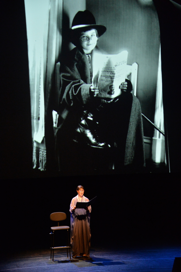 Isabella Rossellini reads from her mother's autobiography in the new stage production The Ingrid Bergman Tribute.