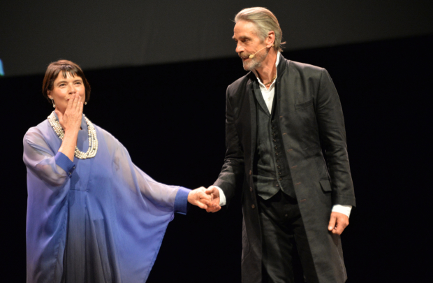 Isabella Rossellini and Jeremy Irons take the stage in The Ingrid Bergman Tribute.