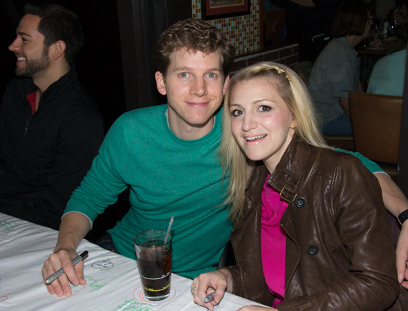 Former Kinky Boots stars Stark Sands and Annaleigh Ashford at the 2013 Broadway Flea Market Autograph Table. Ashford will attend this year's event as well on September 27.