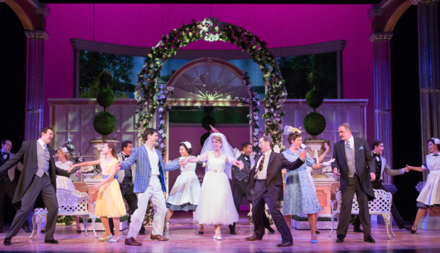 The company of Walnut Street Theatre's production of High Society, directed by Frank Anzalone.