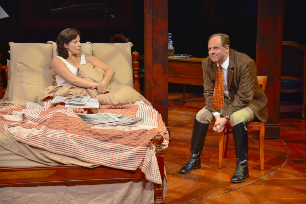 Anne Gottlieb and Benjamin Evett in Broken Glass, directed by Jim Petosa, at Boston's New Repertory Theatre.