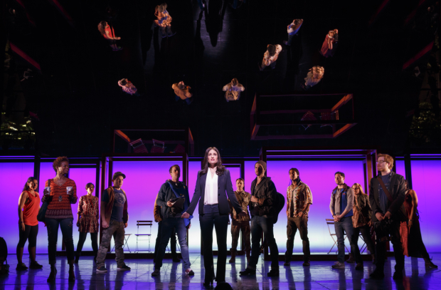 Idina Menzel and the 2014 cast of If/Then at the Richard Rodgers Theatre.