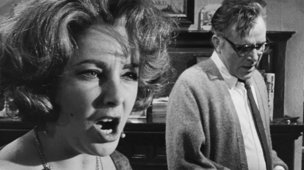 Elizabeth Taylor and Richard Burton in the classic film adaptation of Who's Afraid of Virginia Woolf?