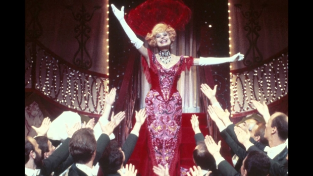 Carol Channing as Dolly Levi in Hello, Dolly! on Broadway.
