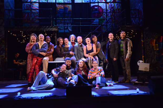 The company of Harbor Lights' production of Jonathan Larson's Rent, directed by Alex Perez, at the Snug Harbor Cultural Center.