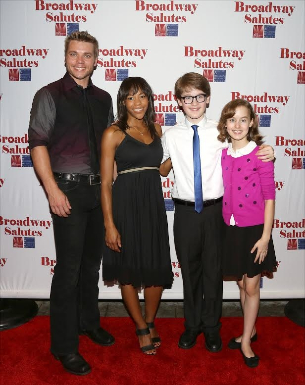 Nathaniel Hackmann, Nikki M, James, Jake Lucas, and Sydney Lucas performed during the 2015 Broadway Salutes event.