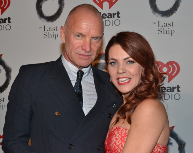 Rachel Tucker poses with Sting on the opening night of The Last Ship in 2014.