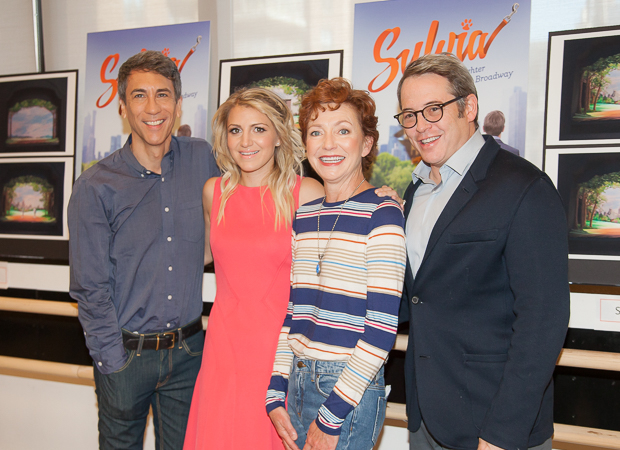 Robert Sella, Annaleigh Ashford, Julie White, and Matthew Broderick make up the Broadway cast of Sylvia.