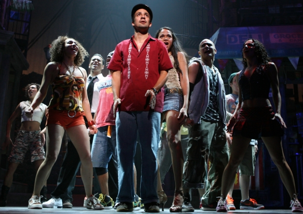 A moment from the 2008 Broadway production of In the Heights, cowritten by and starring Lin-Manuel Miranda, and featuring Tony-winning orchestrations by Alex Lacamoire and Bill Sherman.