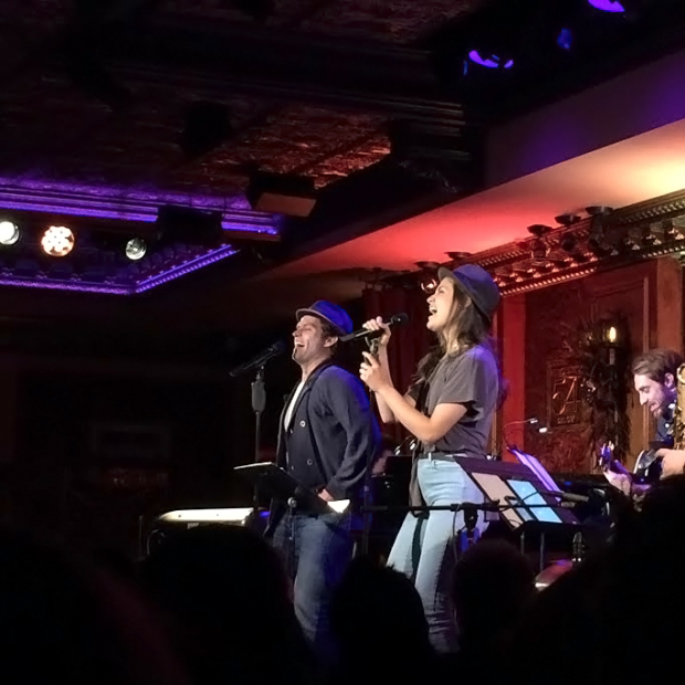 "Phillipa Soo and Steven Pasquale cover Billy Joel's ""New York State of Mind"" at Feinstein's/54 Below."