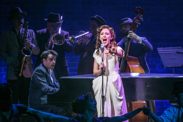 Corey Cott and Laura Osnes in the world premiere of The Bandstand, directed and choreographed by Andy Blankenbuehler, at Paper Mill Playhouse.