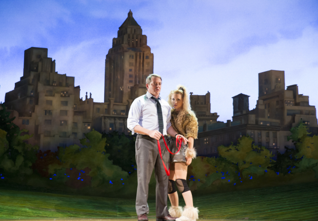Matthew Broderick and Annaleigh Ashford star in A.R. Gurney's Sylvia, directed by Daniel Sullivan, at the Cort Theatre.