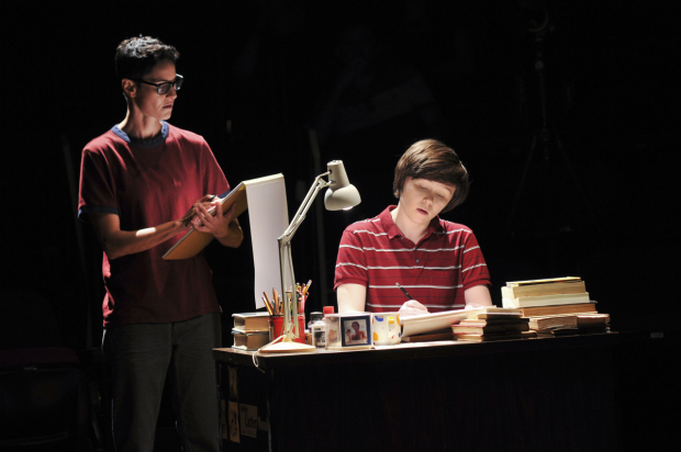 Beth Malone and Emily Skeggs in a scene from Fun Home.