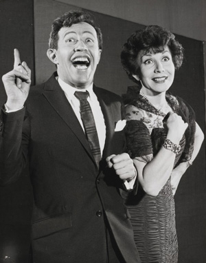 Musical theater duo Adolph Green and Betty Comden.