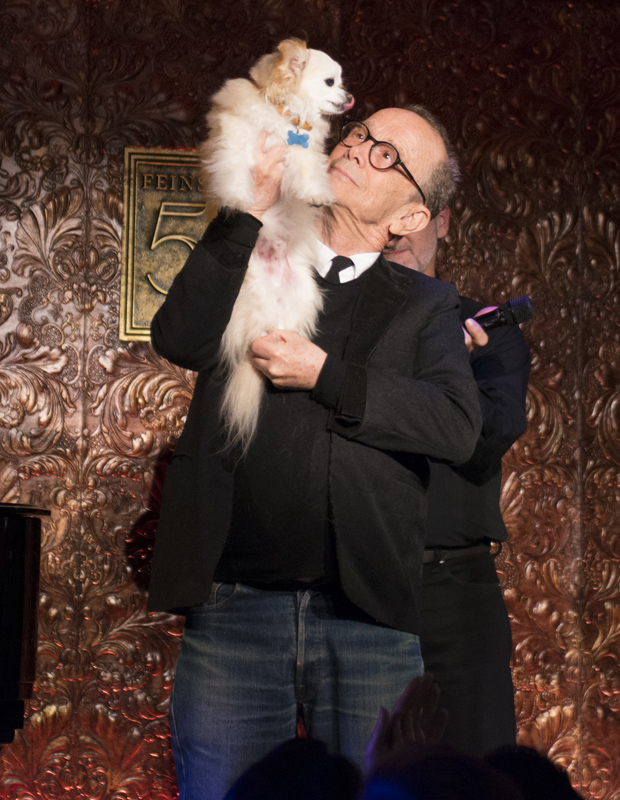 Joel Grey is honored alongside his dog Miguelito at the second annual Best in Shows concert at Feinstein's/54 Below.