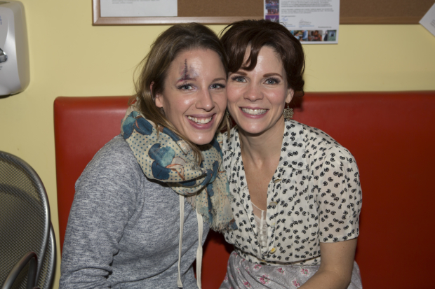 Tony winners Jessie Mueller and Kelli O'Hara celebrate Halloween backstage at The King and I.