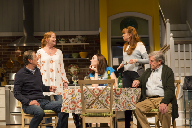 The cast of Winnie Holzman's Choice, directed by Sheryl Kaller, at the Huntington Theatre Company.