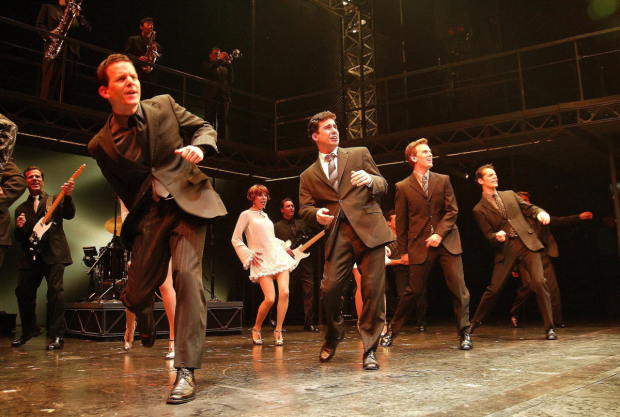 The original stars of Jersey Boys take their bow on opening night in 2005.