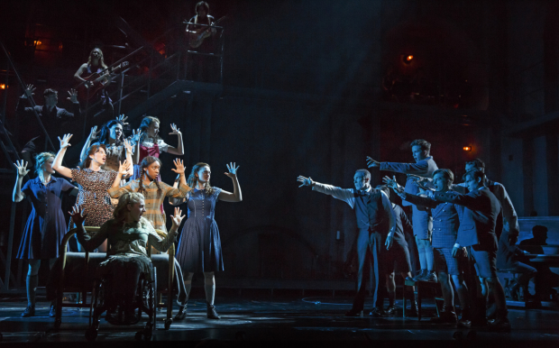 The Broadway cast of Deaf West's Spring Awakening at the Brooks Atkinson Theatre.