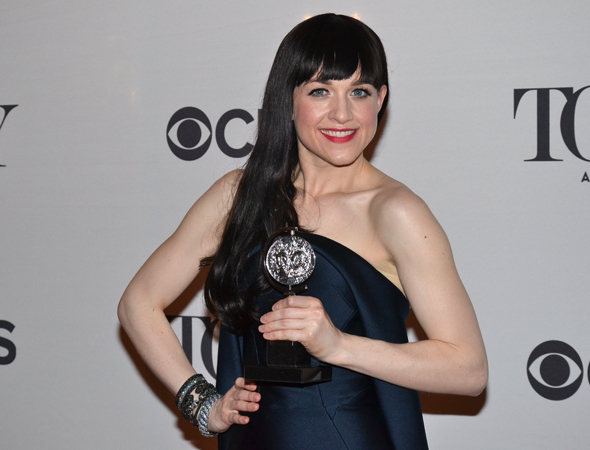 Lena Hall with her 2014 Tony Award for her performance in Hedwig and the Angry Inch.