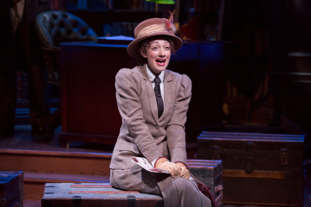 Megan McGinnis plays Jerusha Abbott in the new off-Broadway musical Daddy Long Legs.