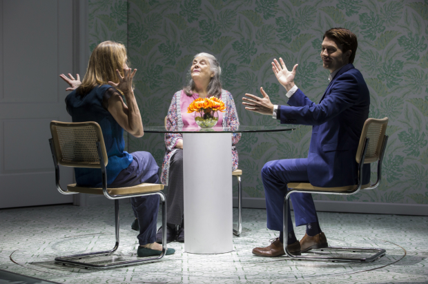 Lisa Emery, Lois Smith, and Noah Bean in a scene from Marjorie Prime.