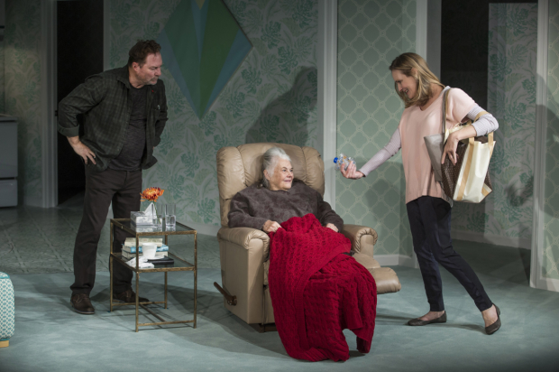 Stephen Root, Lois Smith, and Lisa Emery in the New York premiere of Marjorie Prime.