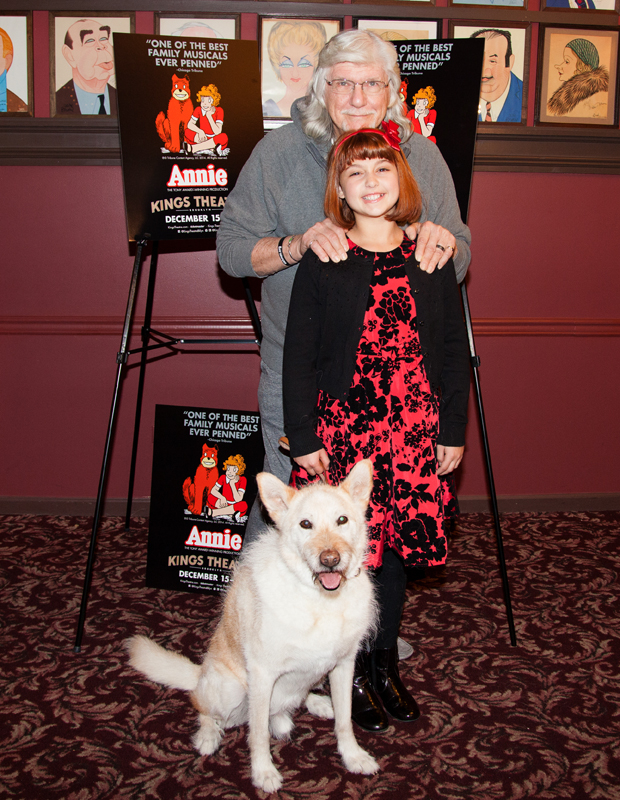 Annie scribe and director Martin Charnin joins his stars for a snapshot.