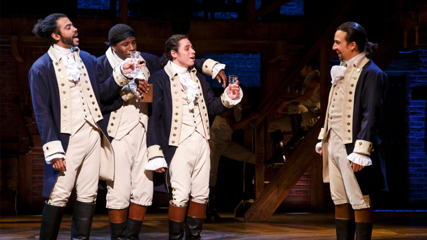 The Broadway musical Hamilton is a 2015 Grammy nominee for Best Musical Theater Album.