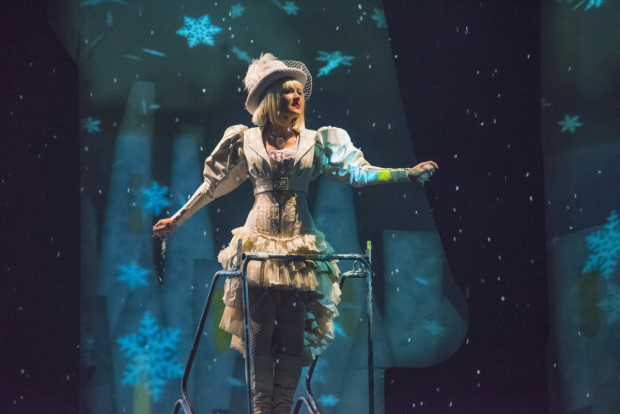 Aimee Doherty as the title character in The Snow Queen, directed by Rick Lombardo, at New Repertory Theatre.