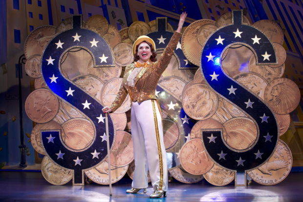 Lesli Margherita stars as Mona Kent in Dames at Sea, directed by Randy Skinner, at Broadway's Helen Hayes Theatre.