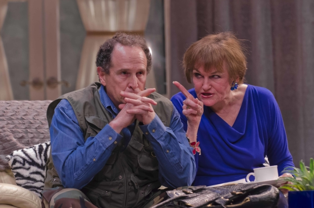 Jeremiah Kissel and Annette Miller in Robert Brustein's Exposed, directed by Stephen Bogart, at Boston Center for the Arts.
