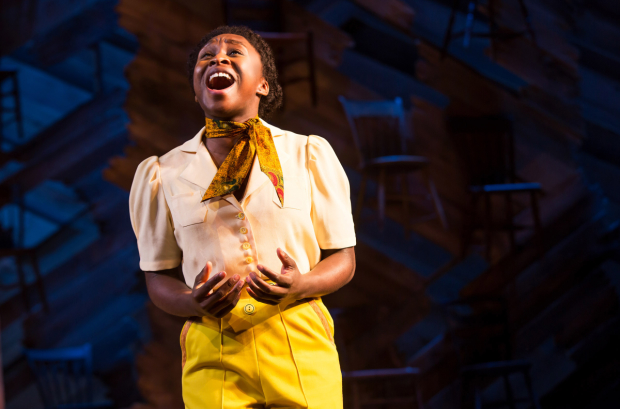 Cynthia Erivo as Celie in The Color Purple at the Jacobs Theatre.