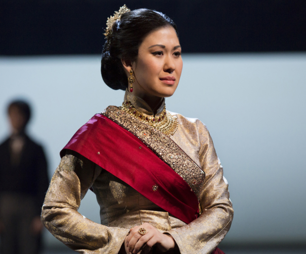 Ruthie Ann Miles as Lady Thiang in The King and I at the Vivian Beaumont Theatre.