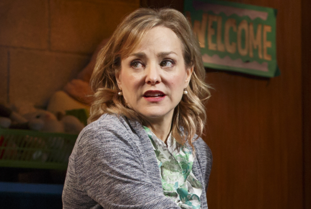 Geneva Carr as Margery in Hand to God at the Booth Theatre.