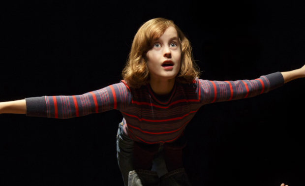 Sydney Lucas as Small Allison in Fun Home at the Circle in the Square Theatre.