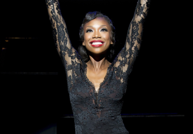 Brandy Norwood as Roxie Hart in Chicago at the Ambassador Theatre.