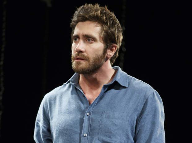 Jake Gyllenhaal as Roland in Constellations at the Samuel J. Friedman Theatre.