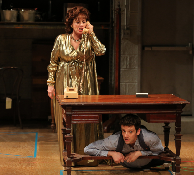 Patti LuPone and Michael Urie had to deal with the ringing of cell phones and visible texters during their run in Lincoln Center Theater's Shows For Days.