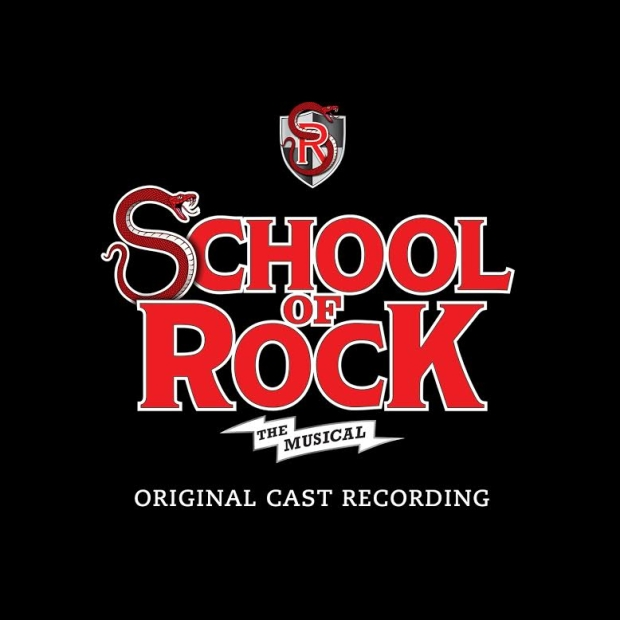 The official artwork for the School of Rock: The Musical cast recording vinyl release.
