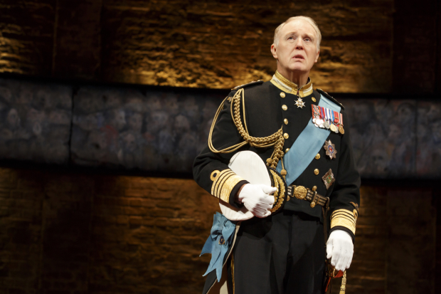 Tim Pigott-Smith stars in Mike Bartlett's King Charles III, directed by Rupert Goold, at Broadway's Music Box Theatre.